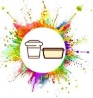 Пластиковая посуда с логотипом